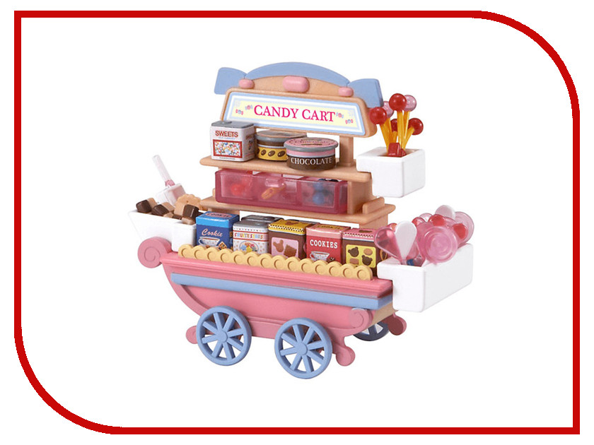 Игра Sylvanian Families Тележка со сладостями 2812 набор тележка с попкорном sylvanian families