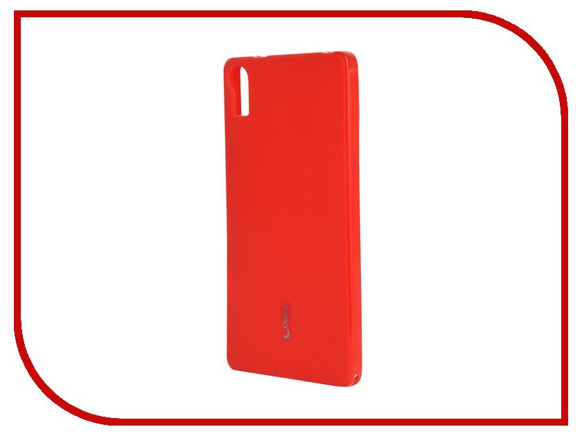 Аксессуар Чехол-накладка Lenovo Vibe Shot Cherry Red 9297