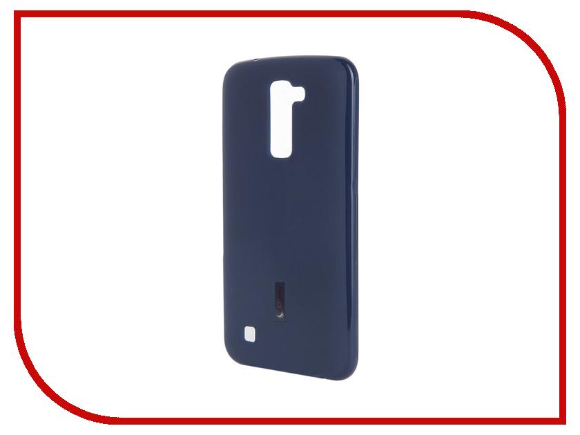Аксессуар Чехол-накладка LG K10 Cherry Dark Blue 9305<br>