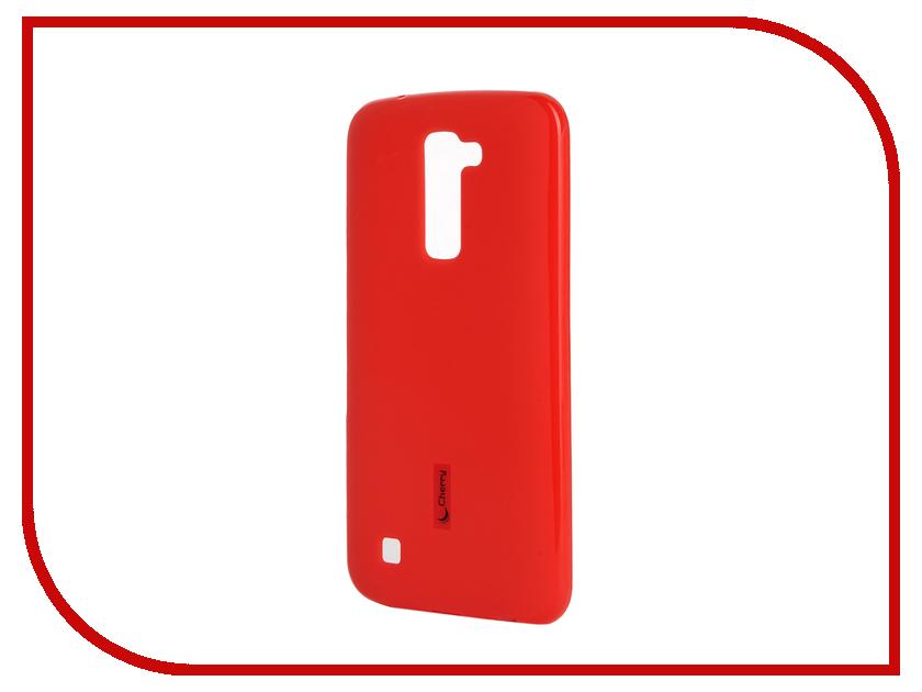 Аксессуар Чехол-накладка LG K10 Cherry Red 9304<br>
