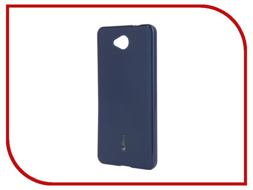 Аксессуар Чехол-накладка Microsoft Lumia 650 Cherry Dark Blue 9314