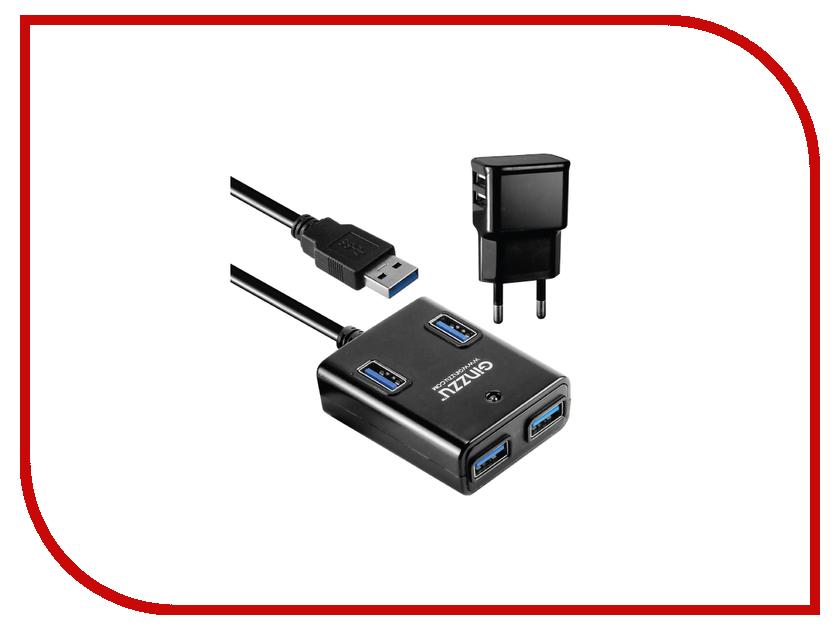 Хаб USB Ginzzu GR-384UAB 4 ports