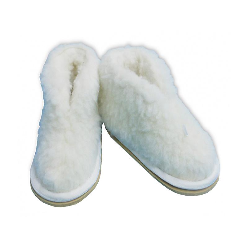 Тапочки Smart Textile Бабуши из овечьего меха Н521 размер 44-45 White тапочки smart textile тапочки