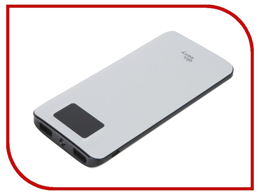 Аккумулятор Aksberry K11 Li-Pol 2xUSB 10000mAh White<br>