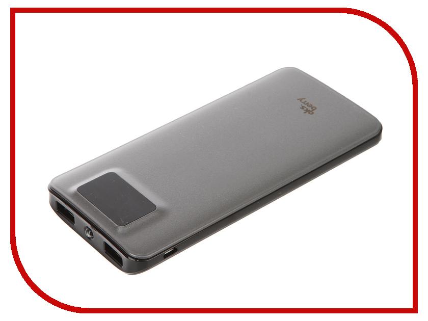 Аккумулятор Aksberry K11 Li-Pol 2xUSB 10000mAh Grey<br>
