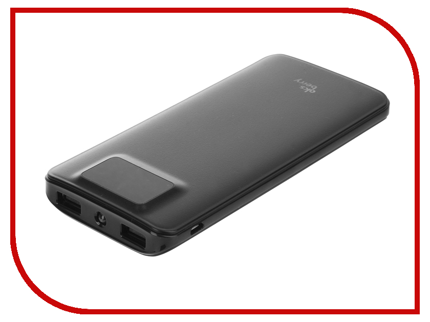 Аккумулятор Aksberry K11 Li-Pol 2xUSB 10000mAh Black