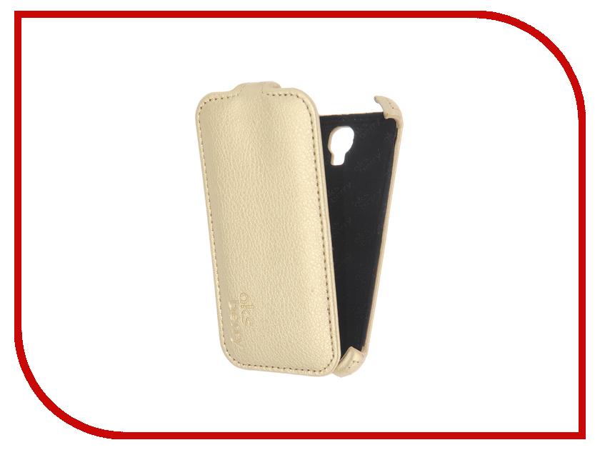 Аксессуар Чехол Alcatel 4024D Pixi First Aksberry Gold<br>
