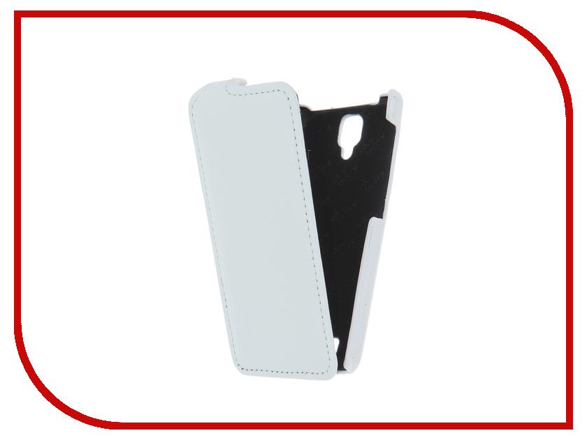 Аксессуар Чехол Lenovo A1000 Aksberry White<br>