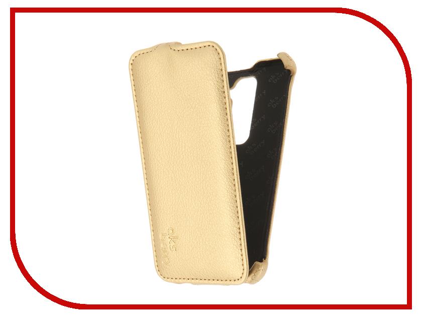 Аксессуар Чехол LG H650E Class Aksberry Gold<br>