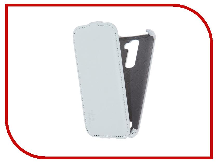Аксессуар Чехол LG X210DS K7 3G Aksberry White<br>