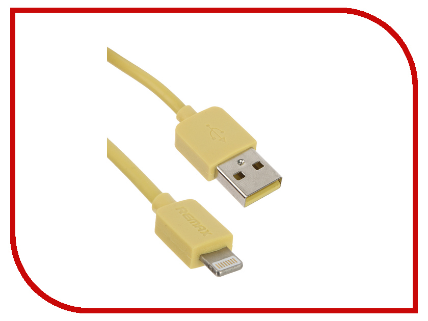 Аксессуар Remax USB - Lightning Light Speed Series RC-006i для iPhone 6/6 Plus 1.5m Yellow 14338<br>