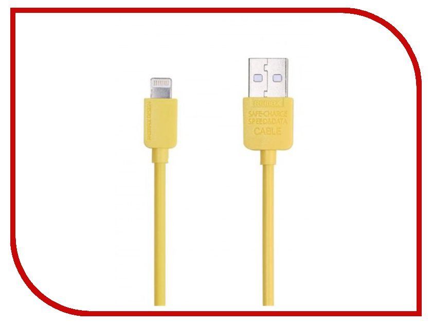 Аксессуар USB - Lightning Light Speed Series RC-006i Remax для iPhone 6/6 Plus 2m Yellow 14343