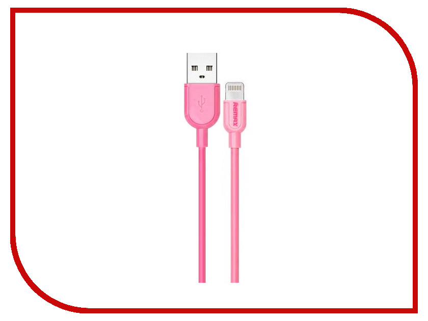 Аксессуар Remax USB - Lightning Souffle RC-031i для iPhone 6/6 Plus 1m Pink 14332