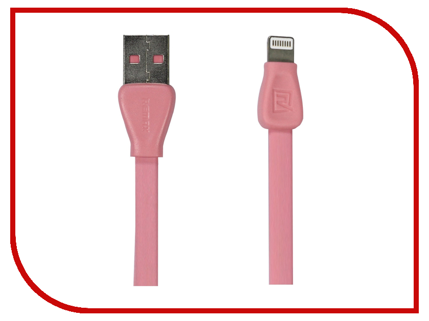 Аксессуар Remax USB - Lightning Martin RC-028i для iPhone 6/6 Plus 1m Pink 14348