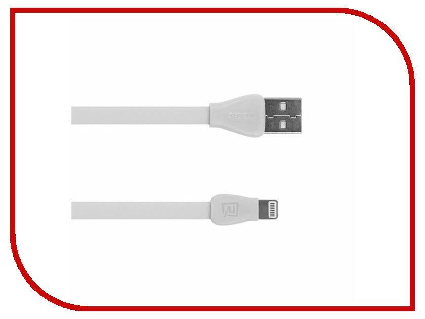 Аксессуар Remax USB - Lightning Martin RC-028i для iPhone 6/6 Plus 1m White 14346<br>