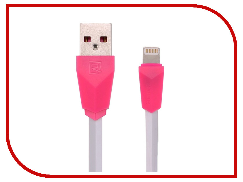 Аксессуар Remax USB - Lightning Aliens RC-030i для iPhone 6/6 Plus 1m White-Pink 14398