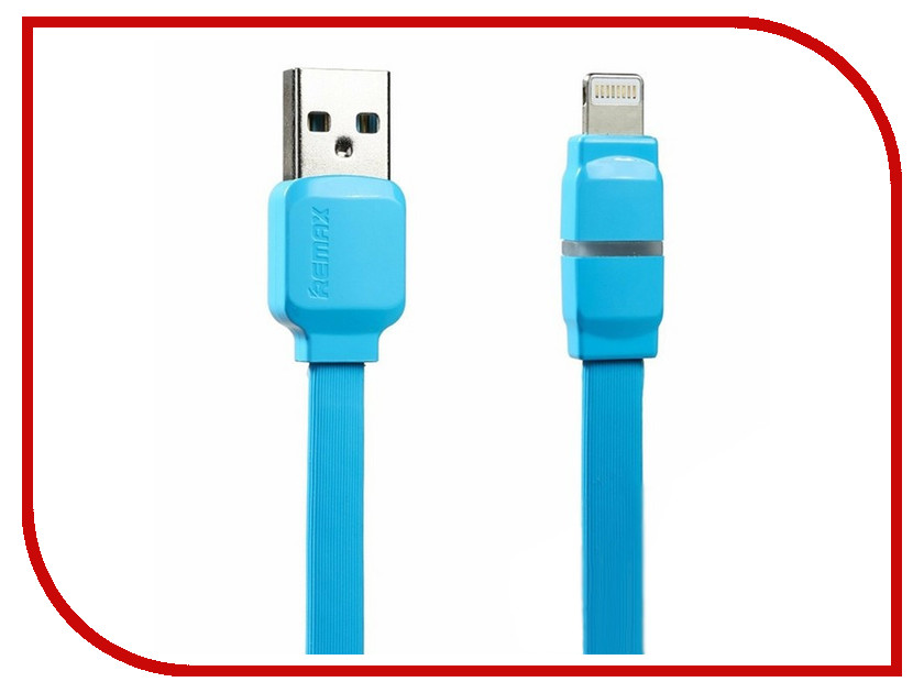 Аксессуар Remax USB - Lightning Breathe RC-029i для iPhone 6/6 Plus 1m Blue 14396