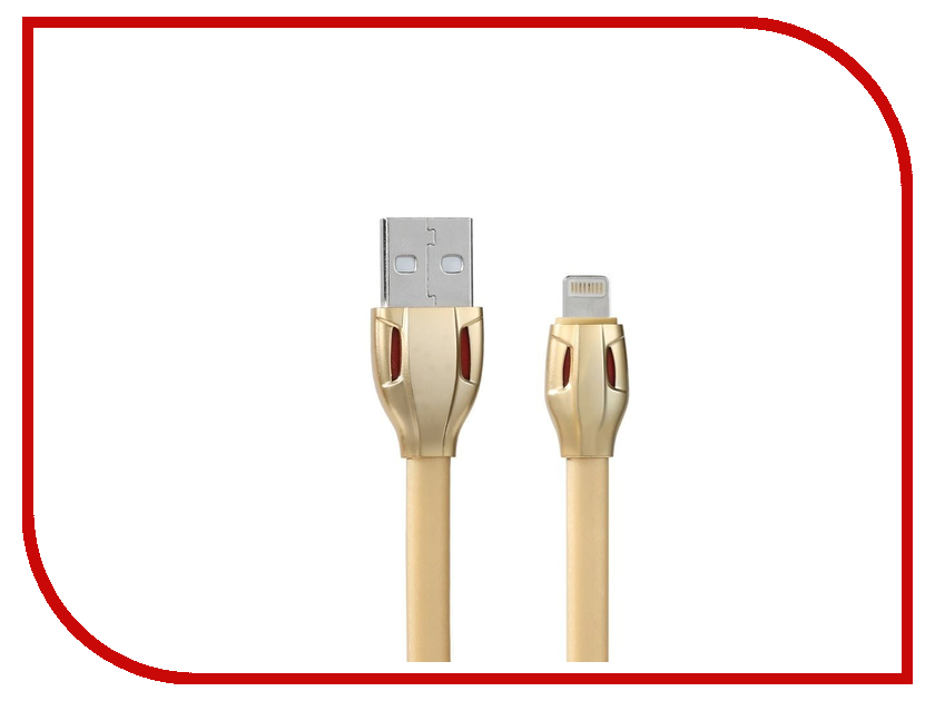 Аксессуар Remax USB - Lightning Laser RC-035i для iPhone 6/6 Plus 1m Gold 14327
