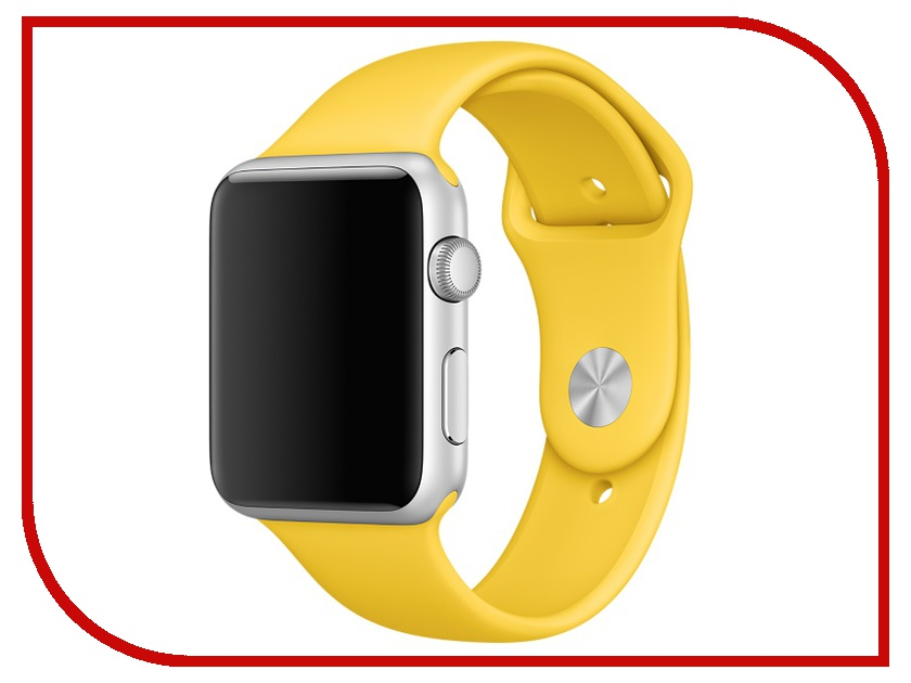 Умные часы APPLE Watch 42mm with Yellow Sport Band MMFE2RU/A