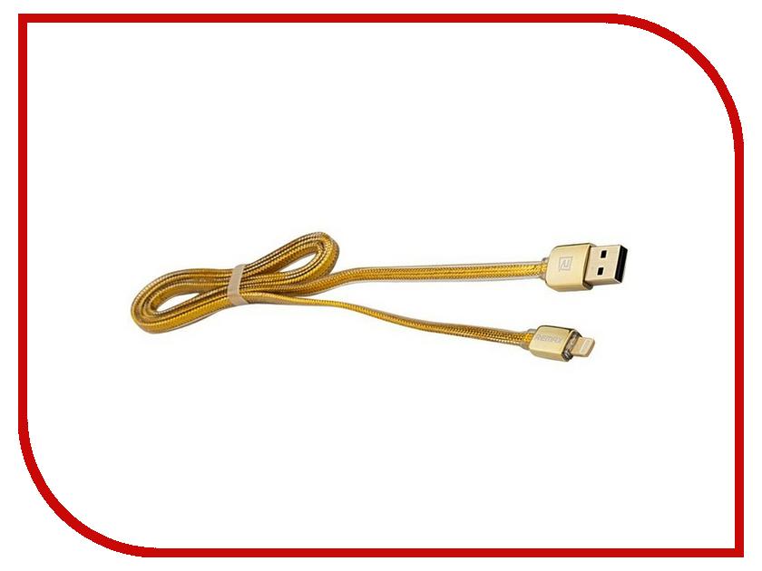 Аксессуар Remax USB - Lightning для iPhone 6/6 Plus 1m Gold 14415<br>