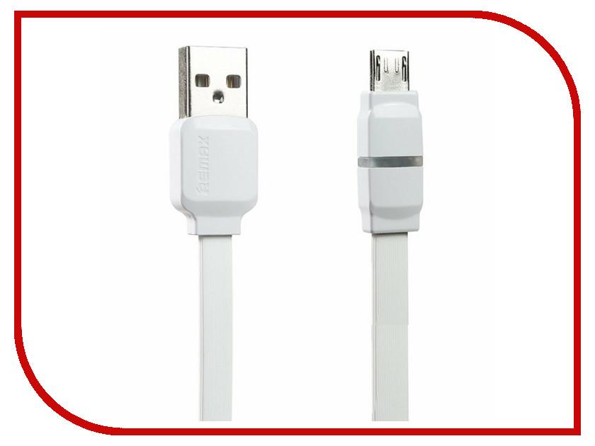 Аксессуар Remax USB - MicroUSB Breathe RC-029m 1m White 14377<br>
