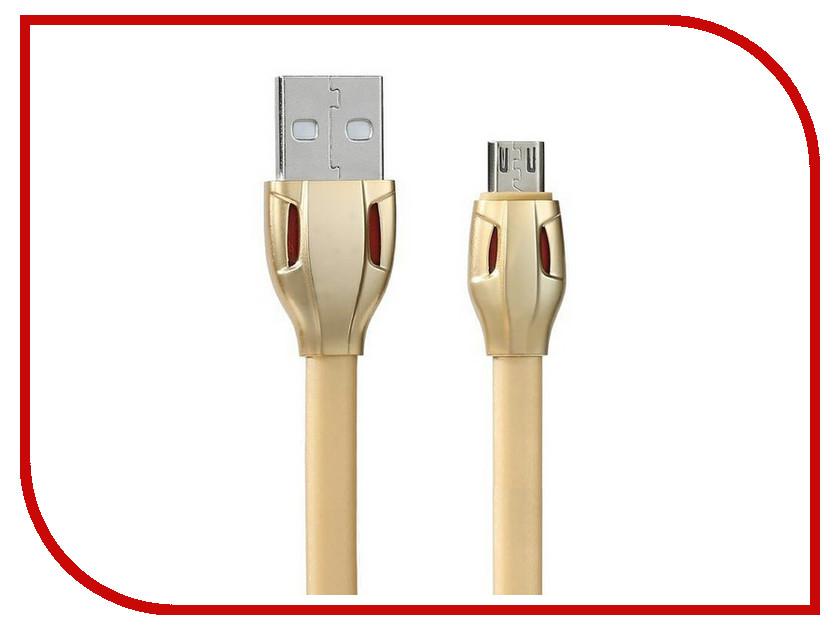 Аксессуар Remax USB - MicroUSB Laser RC-035m 1m Gold 14358