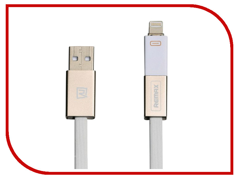 Аксессуар Remax Lightning + microUSB Shadow Magnet RC-026T для iPhone 6/6 Plus 1m White 14312<br>