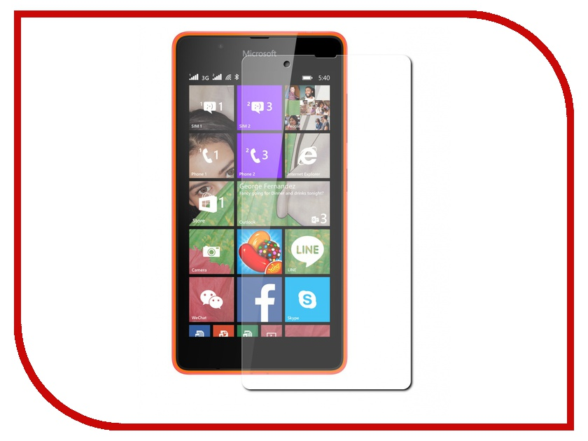 Аксессуар Защитная пленка Microsoft Lumia 540 Aksberry глянцевая<br>