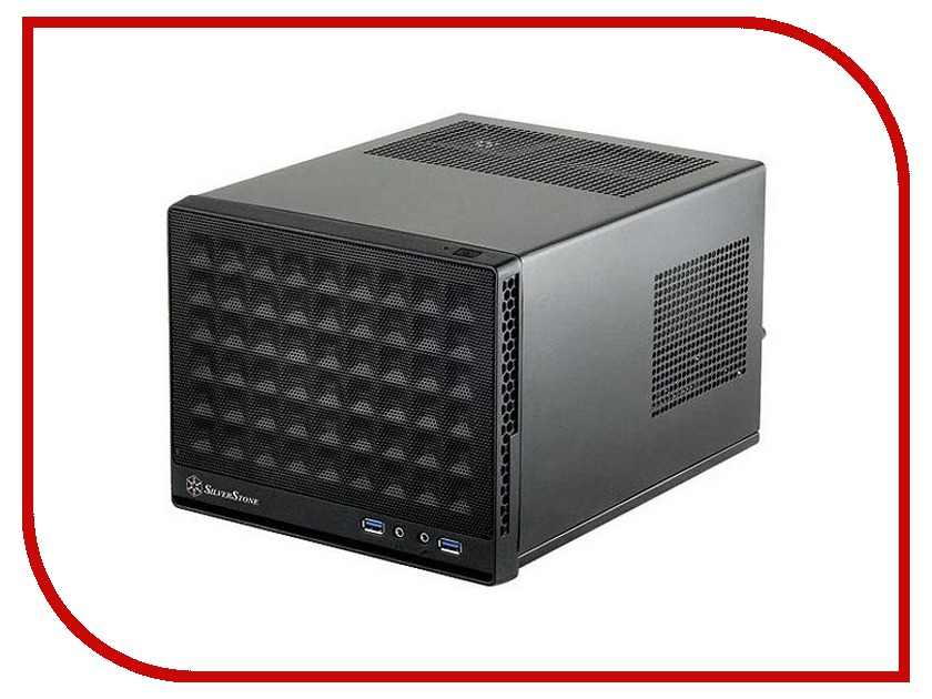 Корпус SilverStone Case Ss Sugo SG13B-Q Black SST-SG13B-Q<br>
