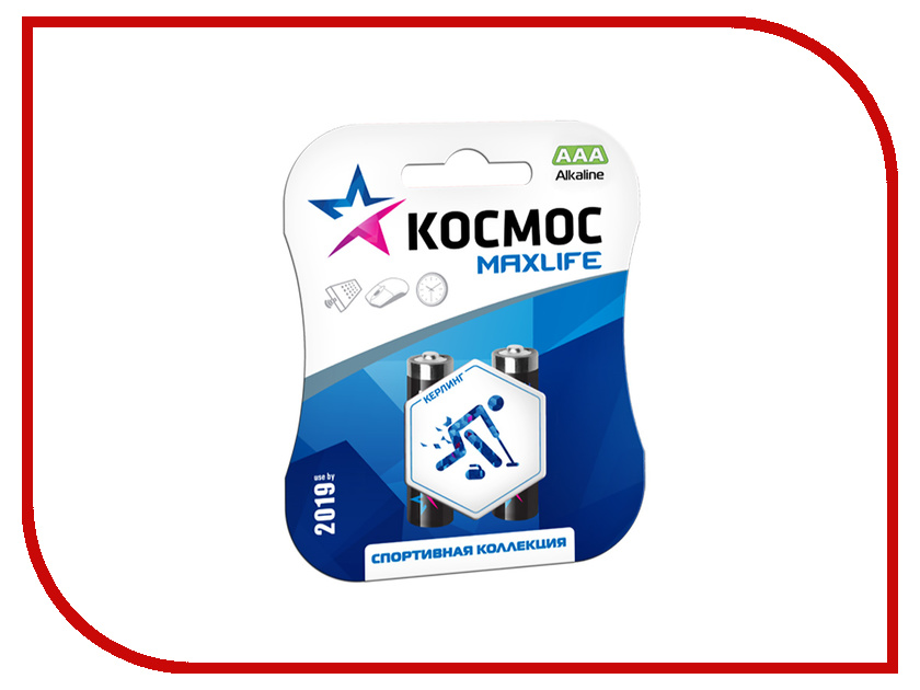 Батарейка AAA -Космос Alkaline Turbo LR03-2BL KOCLR03TURBO2BL (2 штуки)<br>