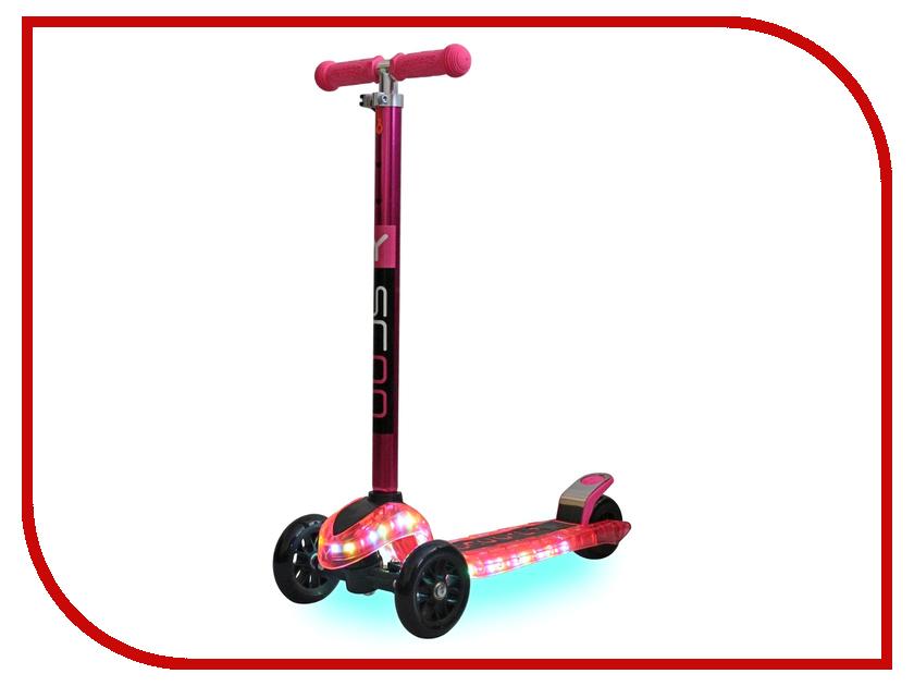 Самокат Y-SCOO Maxi Laser Show Pink Metallic магазин китайская шкатулка