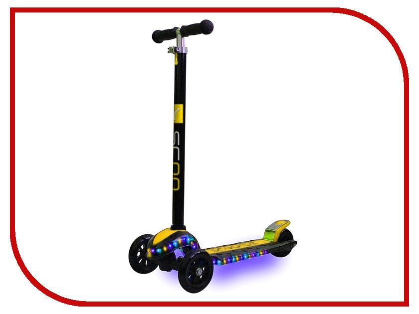 Самокат Y-SCOO Maxi Laser Show Black-Yellow