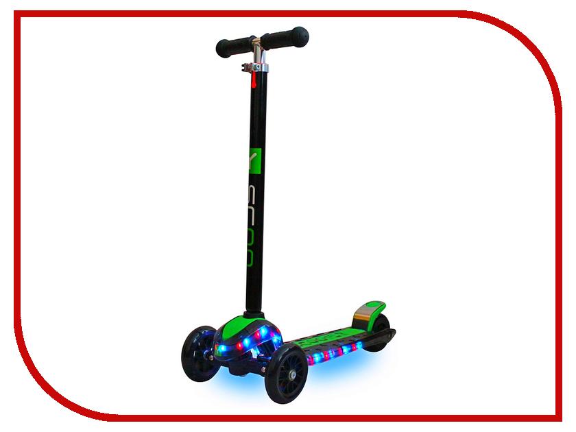 Самокат Y-SCOO Maxi Laser Show Black-Green<br>