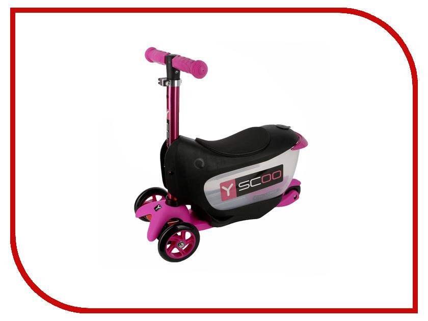 Самокат Y-SCOO Mini Jump&Go Pink