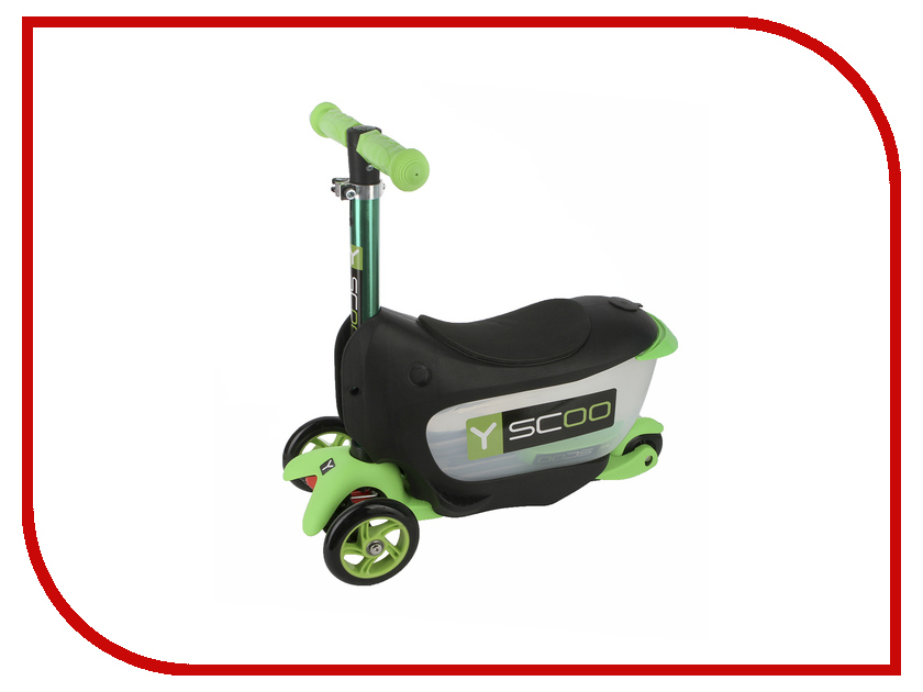 Самокат Y-SCOO Mini Jump&Go Green