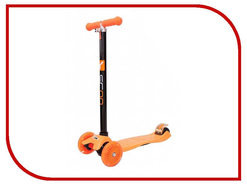 Самокат Y-SCOO Maxi Shine A-20 Orange со светящими колесами самокат y scoo maxi city rt simple gagarin orange