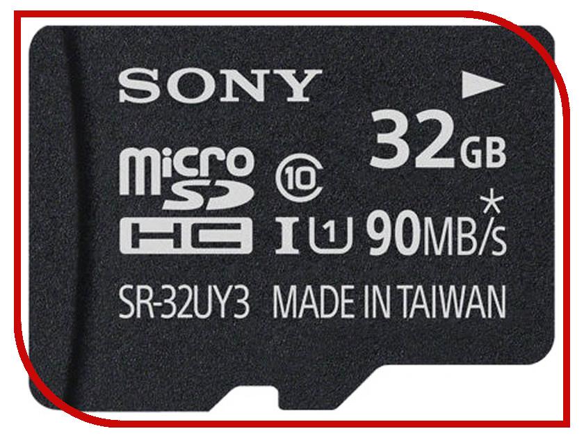 Карта памяти 32Gb - Sony Micro Secure Digital UHS-1 Class 10 SR-32UY3A карта памяти sdhc micro sony sr 16my3a st