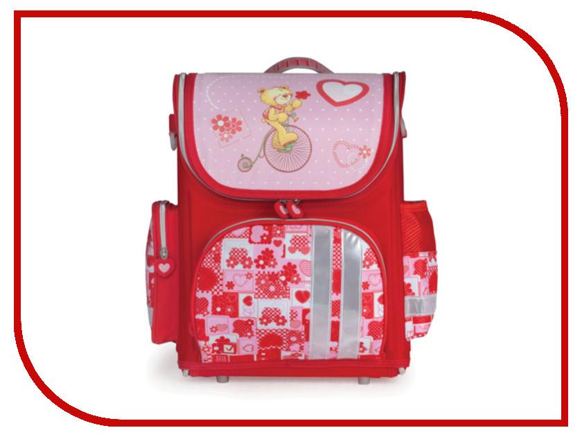Рюкзак BRAUBERG Мишка Pink-Red 225437