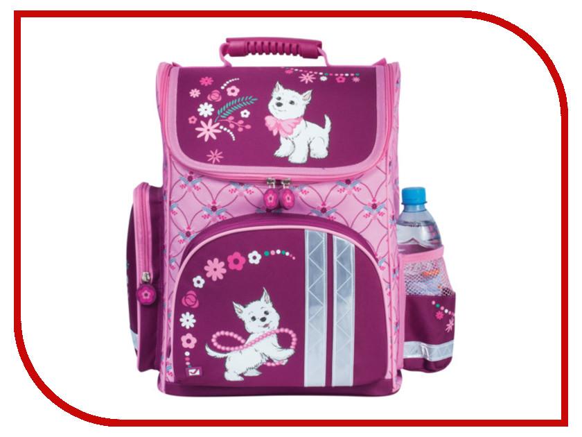 Рюкзак BRAUBERG Щенок Pink-Bordo 225321