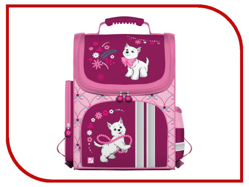 Рюкзак BRAUBERG Щенок Pink-Bordo 225322