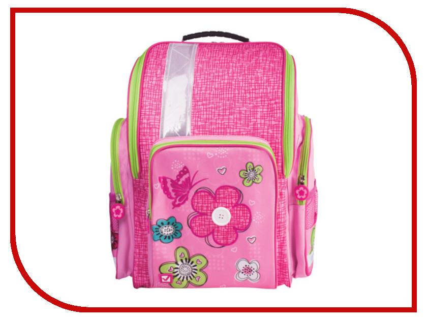 Рюкзак BRAUBERG Цветы и бабочка Pink 225324<br>