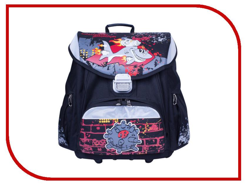 Рюкзак BRAUBERG Premium Акула Black-Red 224154