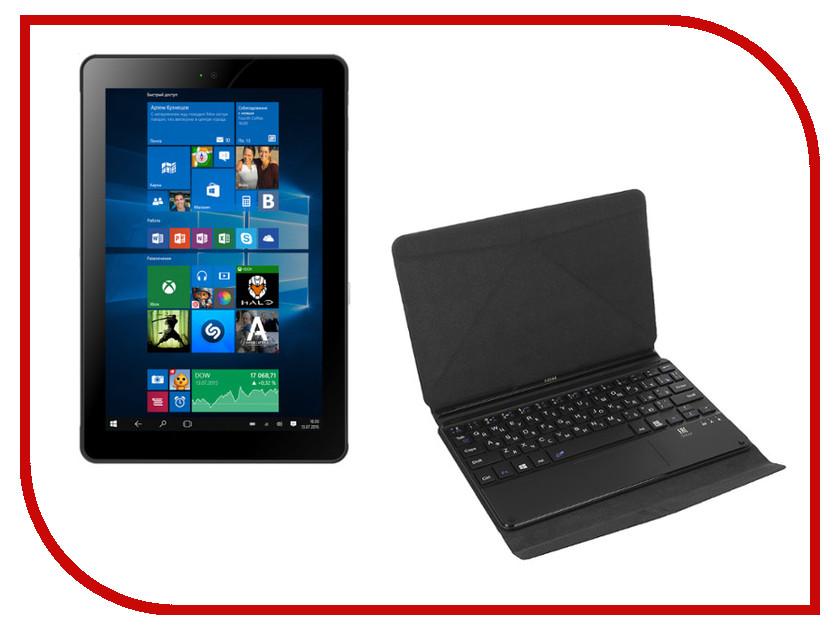 Планшет Irbis TW39 + Keyboard (Intel Atom Z3735G 1.33 GHz/1024Mb/16Gb/3G/Wi-Fi/Cam/8.9/1280x800/Windows 10)<br>