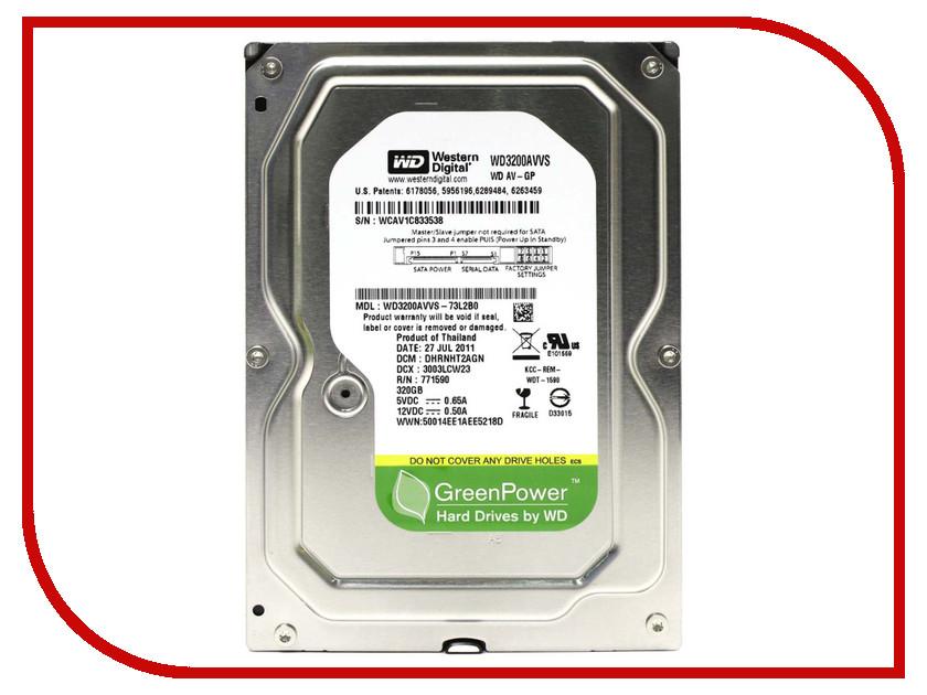 Жесткий диск 320Gb - Western Digital AV-GP WD3200AVVS