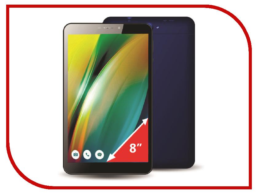 Планшет Ginzzu GT-W831 Blue Intel Atom x3-C3230RK 1.0 GHz/1024Mb/8Gb/Wi-Fi/3G/Bluetooth/Cam/8.0/1280x800/Android