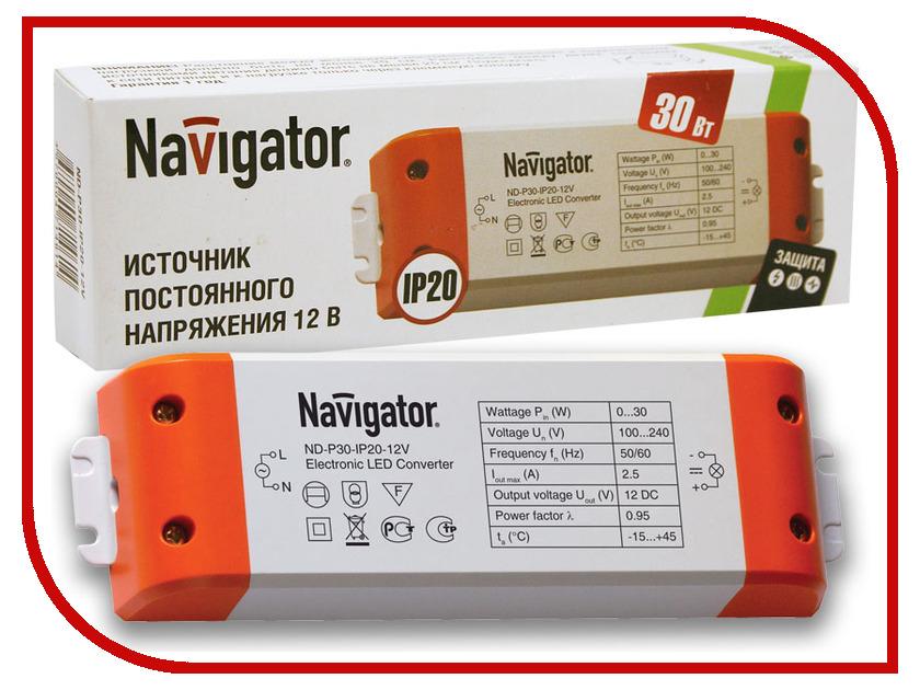 Блок питания Navigator 71 461 ND-P30-IP20-12V блок питания navigator 71 467 nd p150 ip20 12v