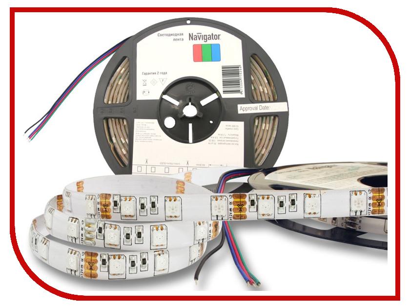 Светодиодная лента Navigator 71 429 NLS-5050RGB60-14.4-IP65-12V R5 5m блок питания navigator 71 467 nd p150 ip20 12v