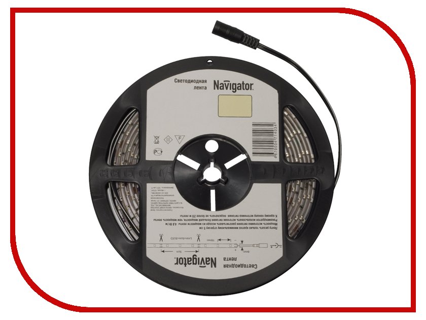 Светодиодная лента Navigator 71 410 NLS-3528WW120-9.6-IP20-12V R5