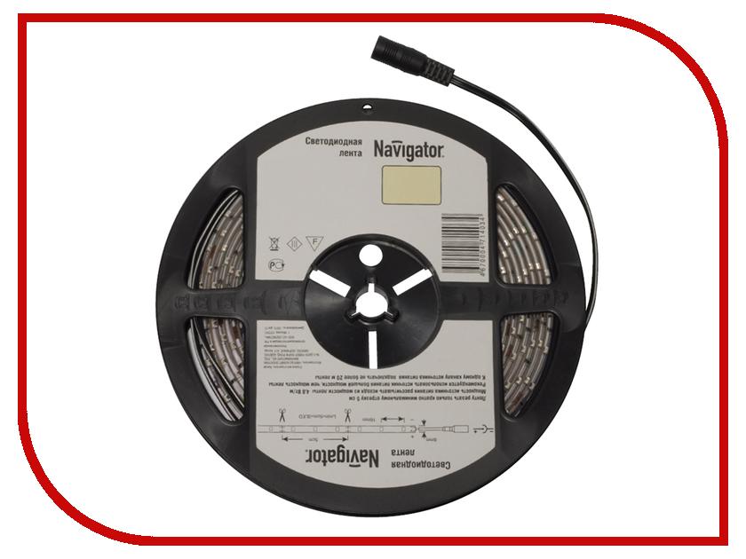 Светодиодная лента Navigator 71 402 NLS-3528WW60-4.8-IP20-12V R5<br>