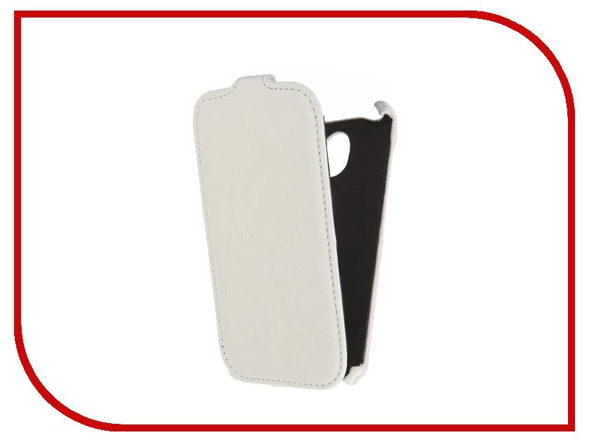 Аксессуар Чехол Prestigio MultiPhone Muze C3 PSP3504DUO Cojess Экокожа Флотер White<br>